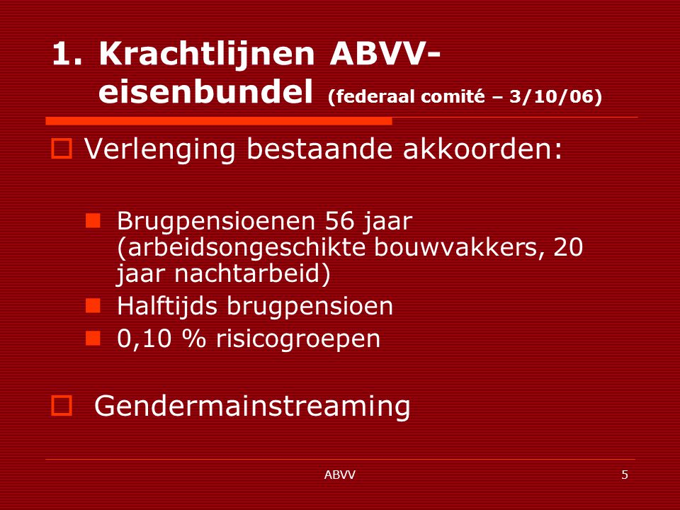 ABVV6 2.Hindernissen 2.1.