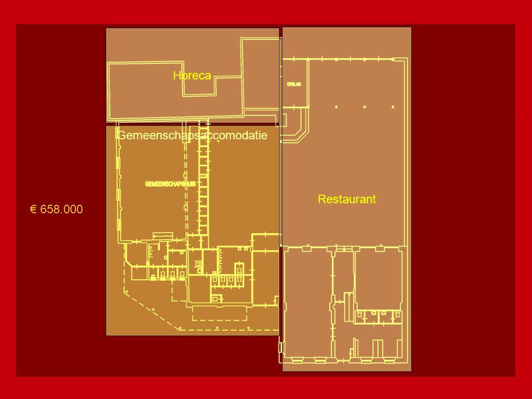 Restaurant Horeca + Gemeenschapsaccomodatie € 658.000 € ???