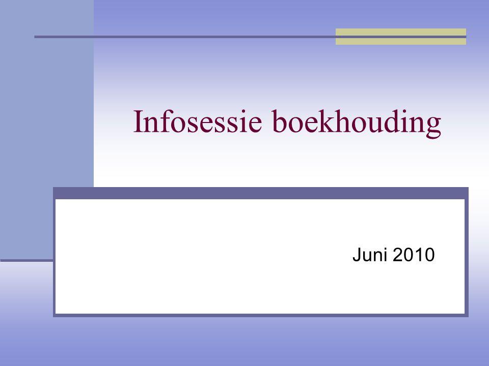 Infosessie boekhouding Juni 2010