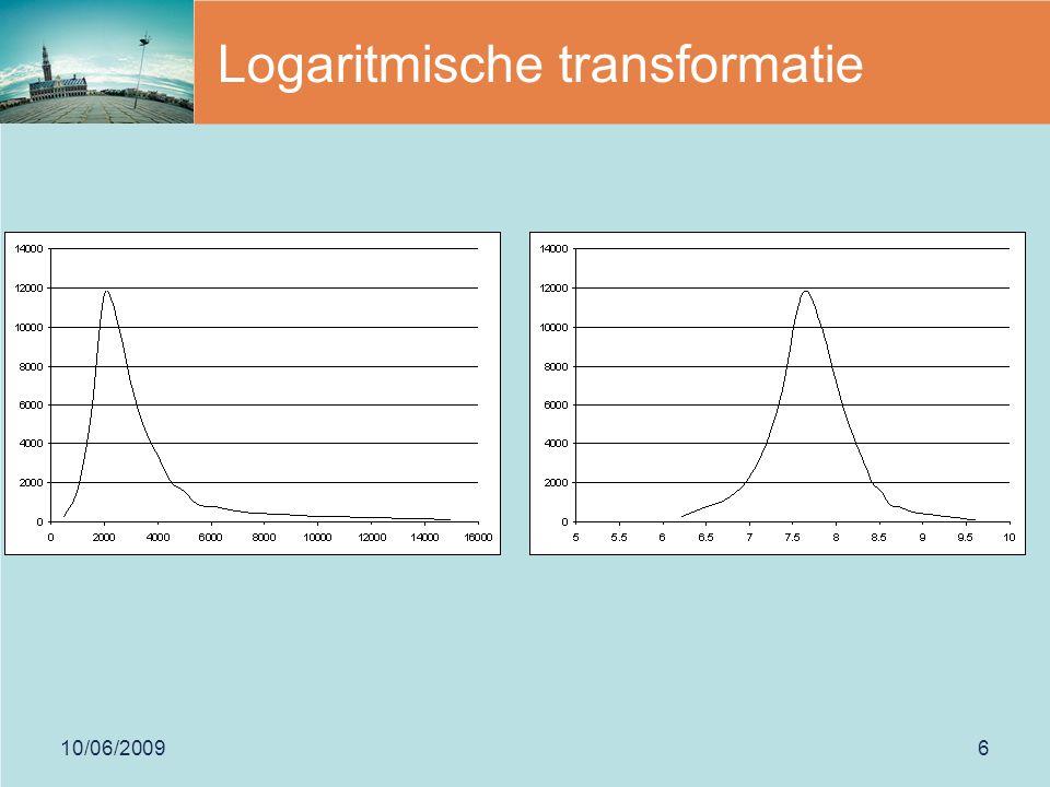 10/06/20096 Logaritmische transformatie