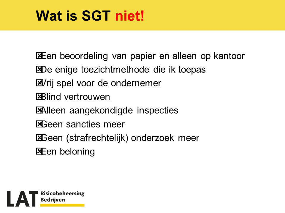 Wat is SGT wel.Generieke + spec.