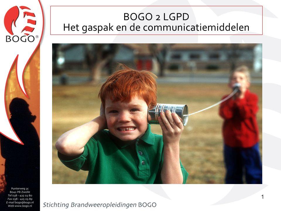 Les 36a leergang bevelvoerder (auteur: F. van de Wetering) BOGO 2 LGPD Het gaspak en de communicatiemiddelen 1