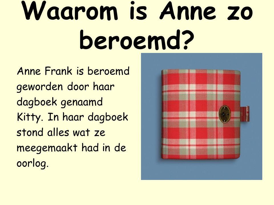 Otto Frank Anne,Margot en Edith hadden de oorlog niet overleefd.