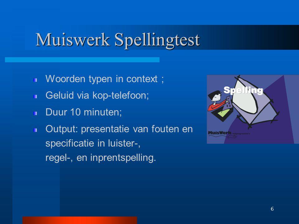 Output Spellingtest