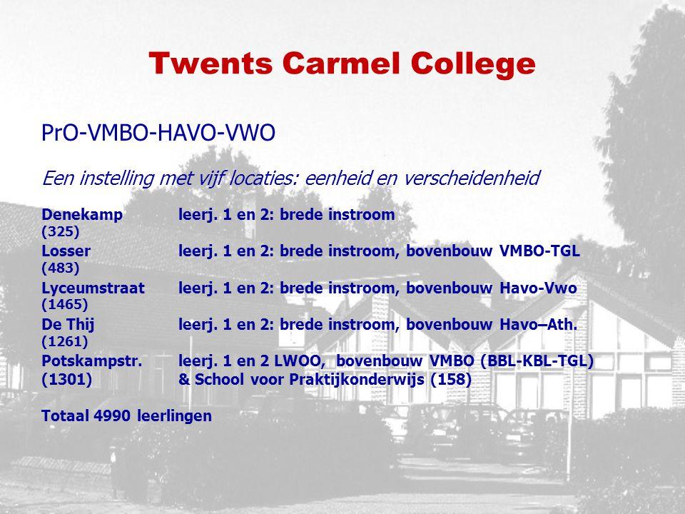 Twents Carmel College PrO-VMBO-HAVO-VWO Een instelling met vijf locaties: eenheid en verscheidenheid Denekampleerj.