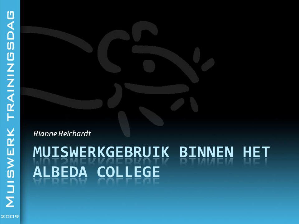 Muiswerkgebruik binnen het Albeda College Fazantenlaan 1C