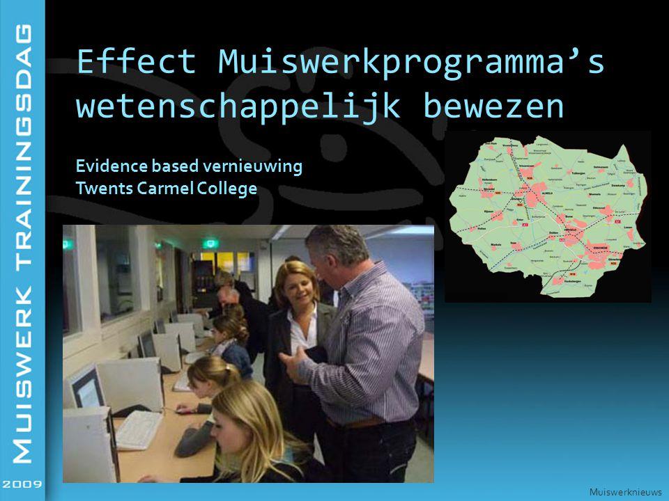 Evidence based vernieuwing Twents Carmel College Effect Muiswerkprogramma's wetenschappelijk bewezen Muiswerknieuws