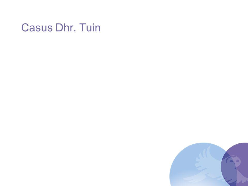 Casus Dhr. Tuin