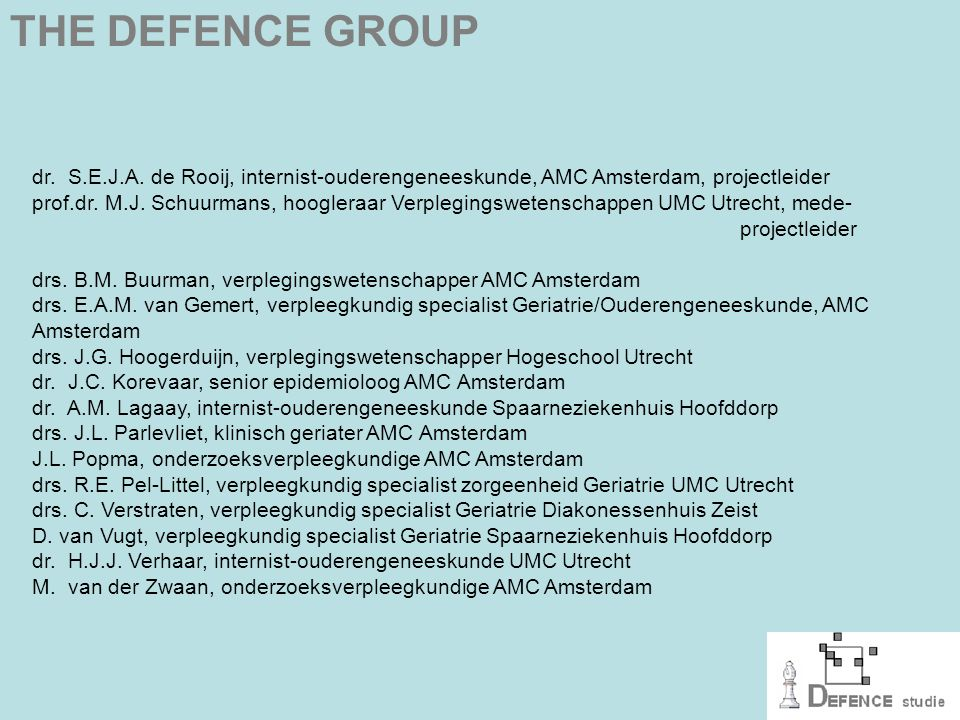 THE DEFENCE GROUP dr.S.E.J.A.