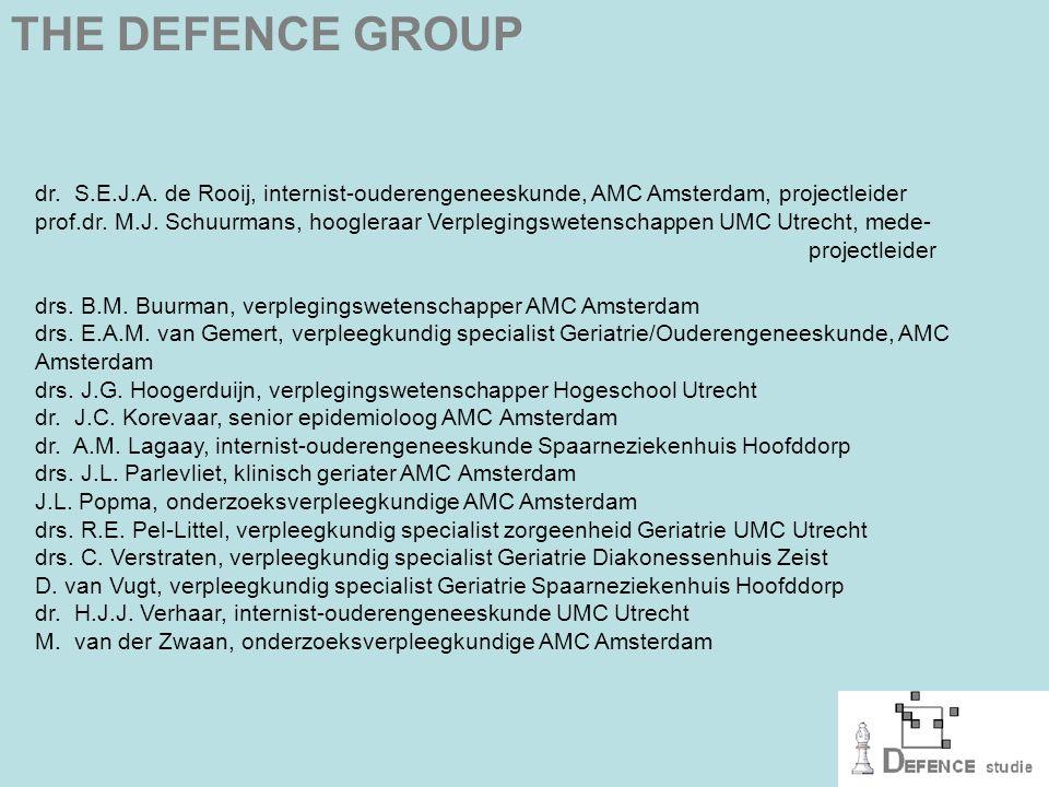 DEFENCE model eerste stap: voorselectie met screening door eigen vpk DEFENCE model