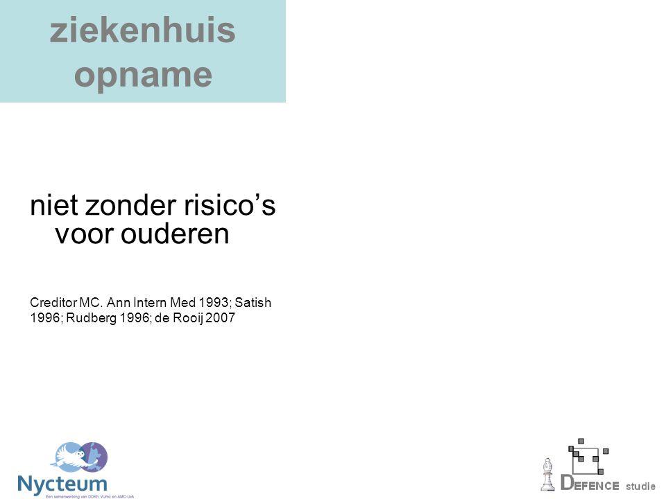 DEFENCE model tweede stap: screening geriatrische problemen DEFENCE model