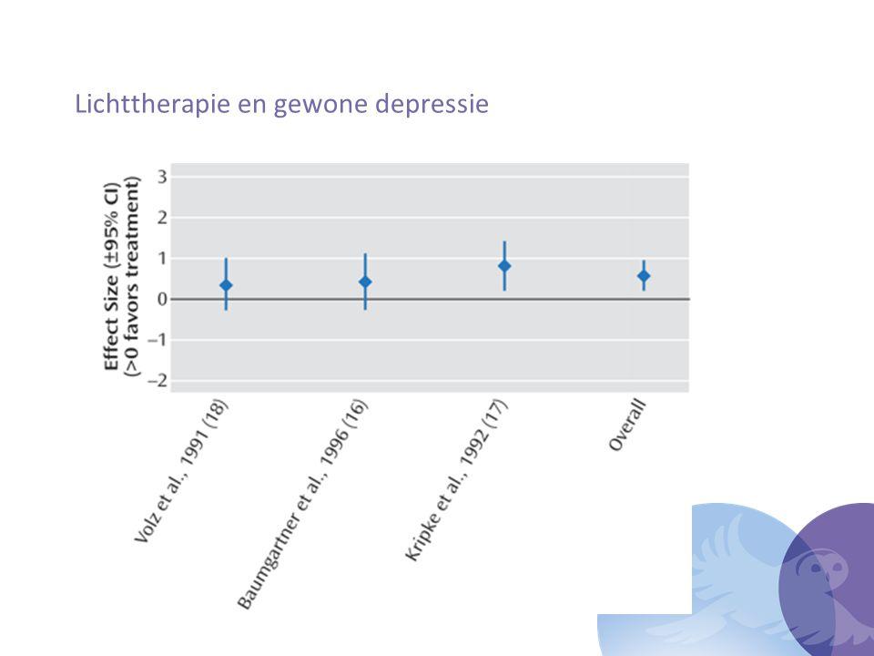 Lichttherapie en gewone depressie