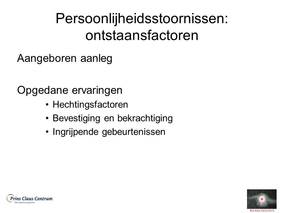 Cluster A: vooral biologische factoren, dus genetische aanleg.