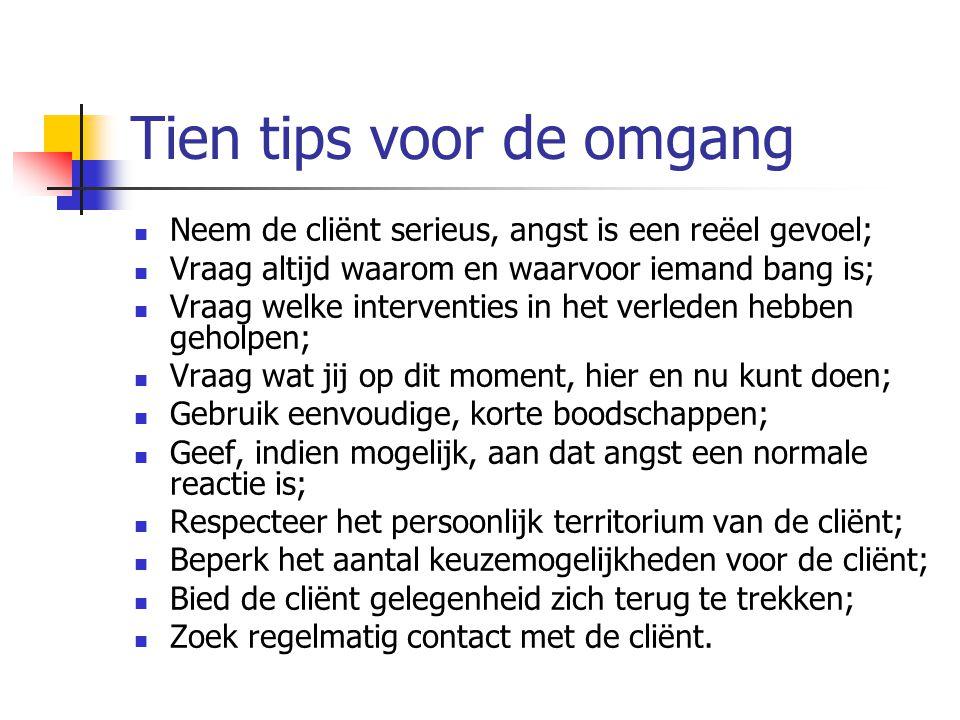 Internetadressen Nederlands: www.psychowijzer.nl www.medischestartpagina.nl (Link psychiatrie (staat in rechterkolom Specialismen ), link Angststoornissen www.hulpgids.nl Engels: www.anxietynetwork.com www.ocfoundation.org
