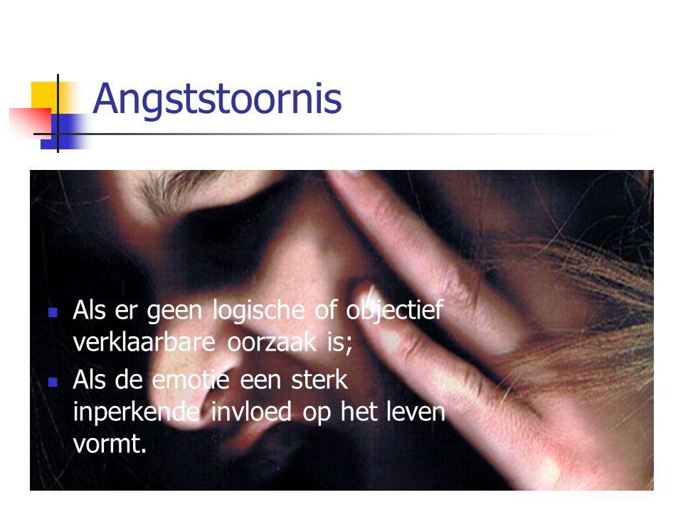 Indeling angststoornissen 1.Paniekstoornis (al dan niet met agorafobie) 2.