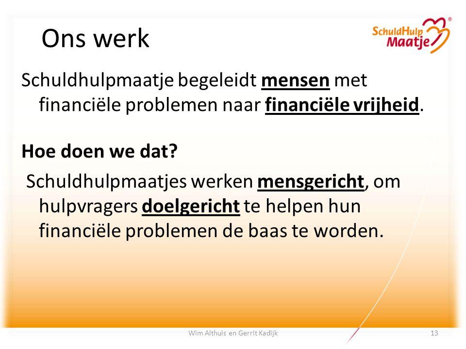 Ons werk Schuldhulpmaatje begeleidt mensen met financiële problemen naar financiële vrijheid. Hoe doen we dat? Schuldhulpmaatjes werken mensgericht, o