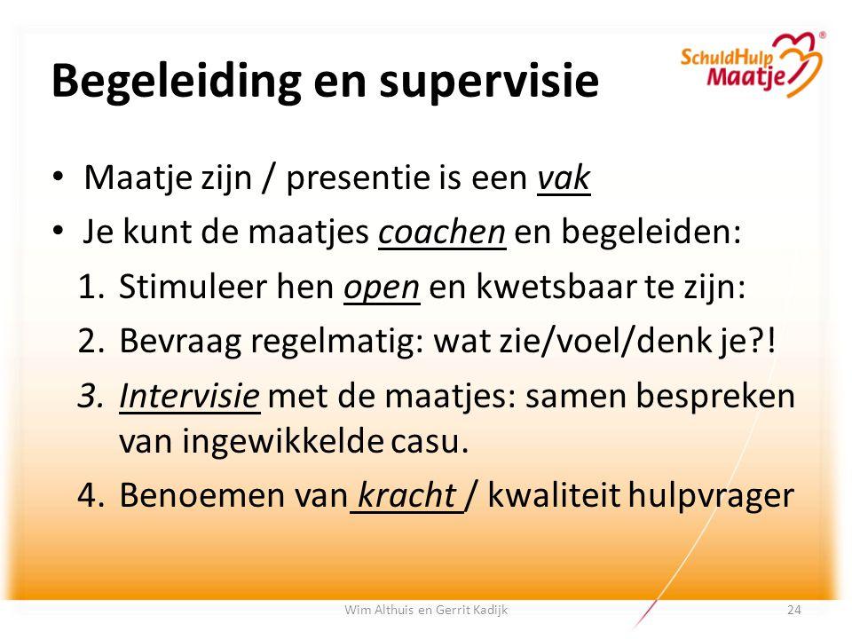 Begeleiding en supervisie Maatje zijn / presentie is een vak Je kunt de maatjes coachen en begeleiden: 1.Stimuleer hen open en kwetsbaar te zijn: 2.Be