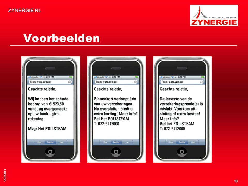 Voorbeelden 9/22/2014 ZYNERGIE.NL 18