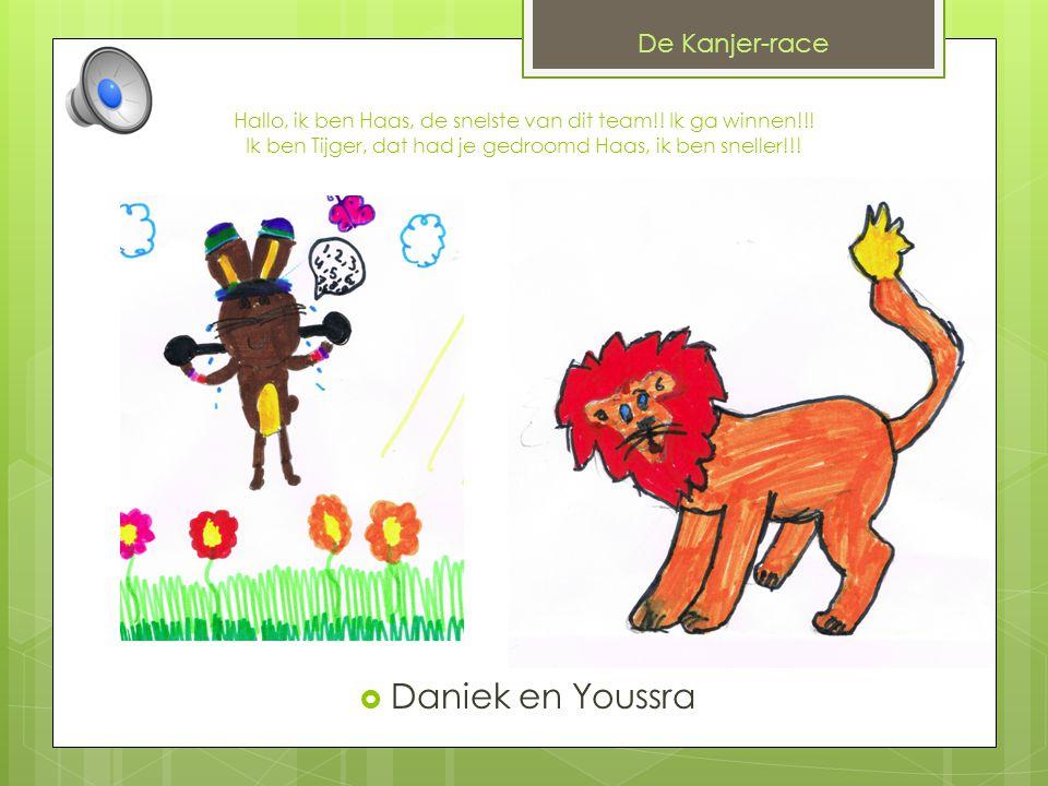 De Kanjer-race Dit digitale prentenboek is gemaakt door: Nicole, Daniek, Melissa, Youssra, Remo, Sander en Milan