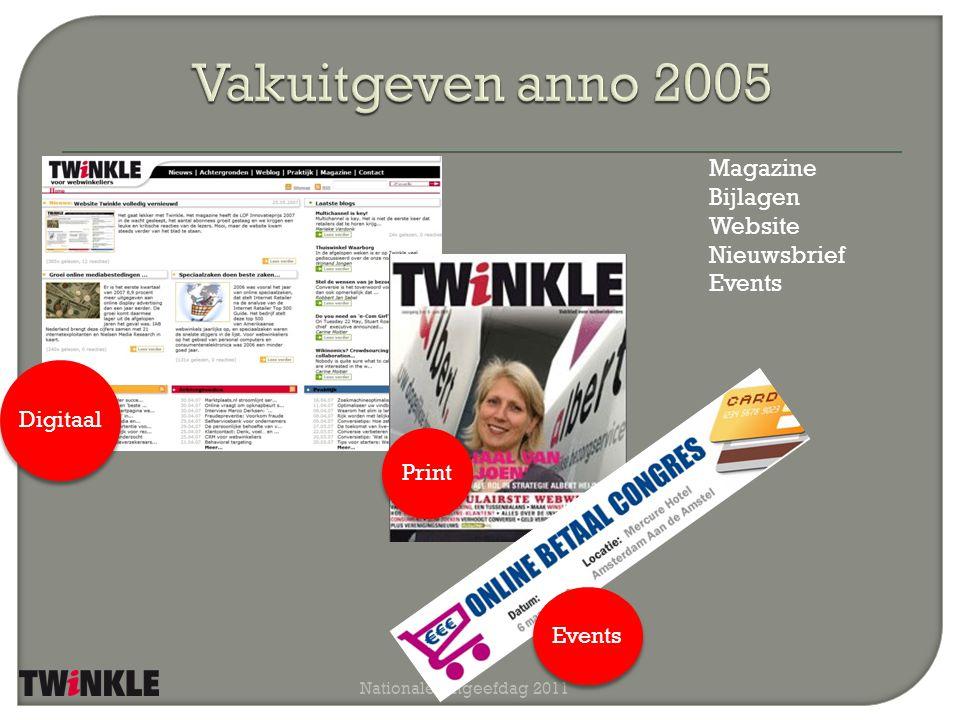 Nationale Uitgeefdag 2011 Magazine Bijlagen Website Nieuwsbrief Events Digitaal Print