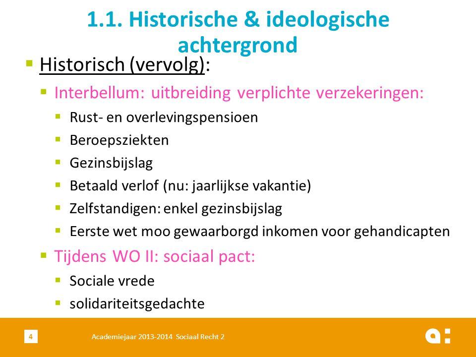 Academiejaar 2013-2014 Sociaal Recht 225 1.10.