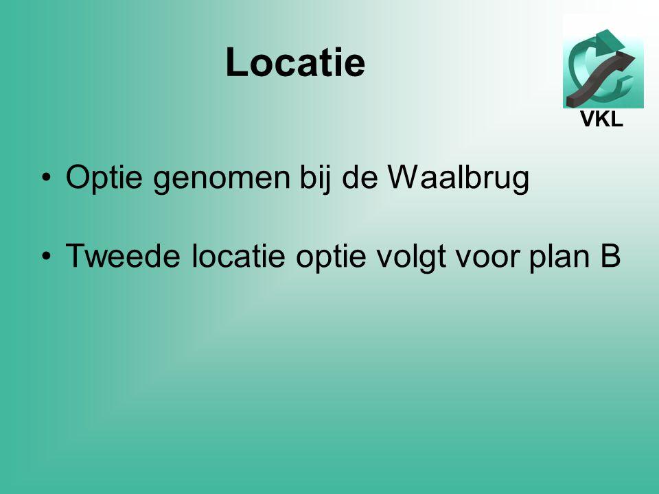 VKL Locatie Optie genomen bij de Waalbrug Tweede locatie optie volgt voor plan B