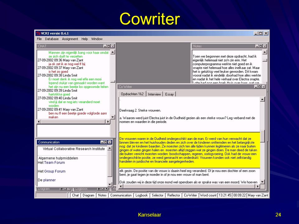 Kanselaar 24 Cowriter