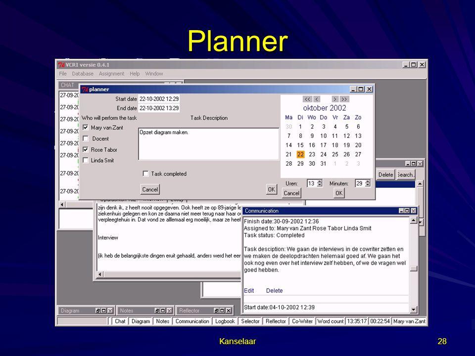 Kanselaar 28 Planner