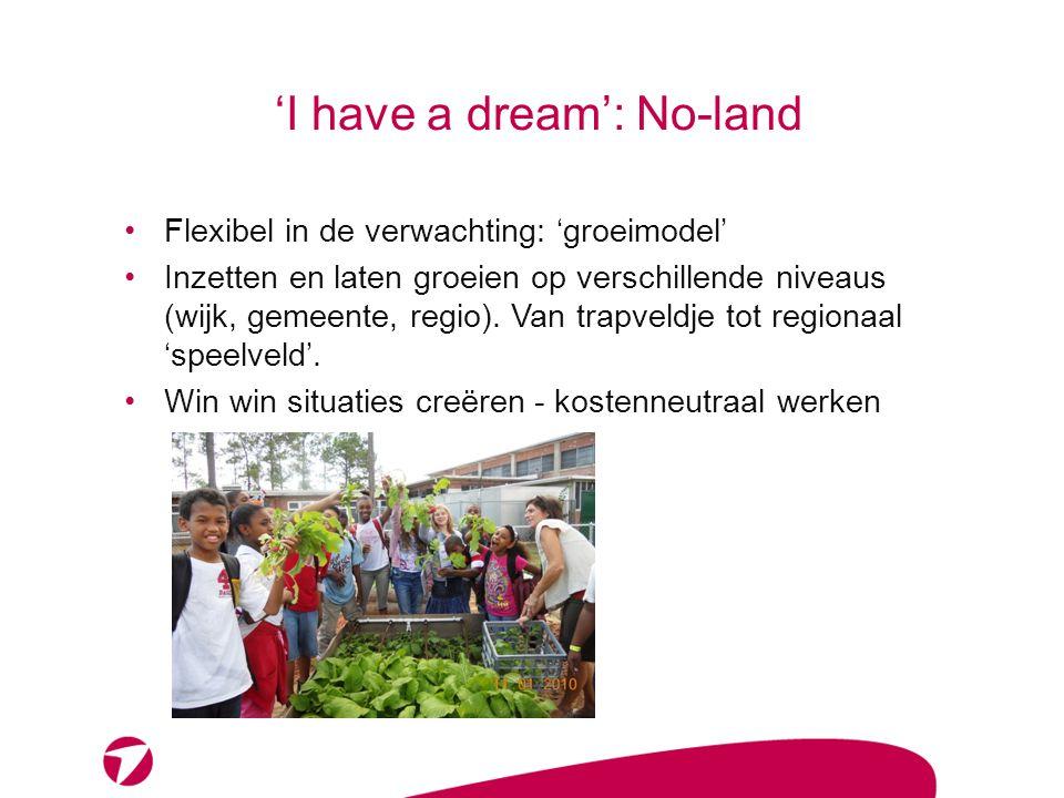 Uitwerking droom: ruimtelijk Stadscamping: studentencaravans Educatieve moestuinen en mobiele tuinen Bedrijvigheid – economisch en maatschappelijk
