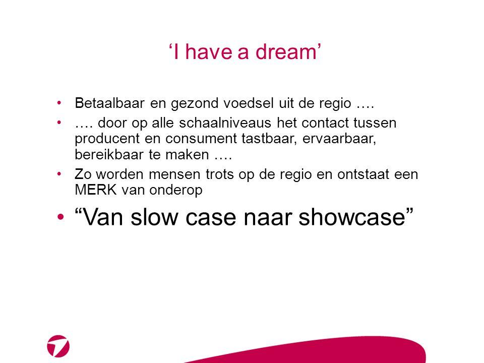 'I have a dream' Betaalbaar en gezond voedsel uit de regio ….