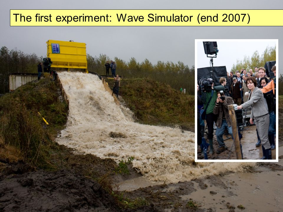 The first experiment: Wave Simulator (end 2007)