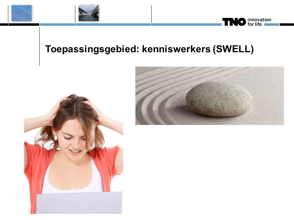 Toepassingsgebied: kenniswerkers (SWELL)