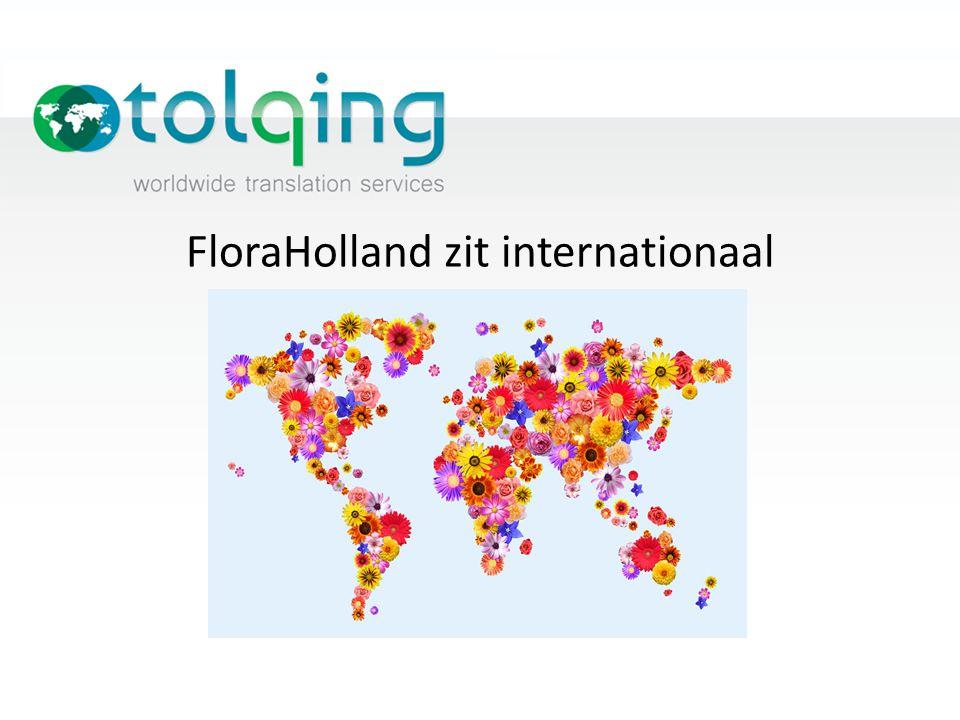 FloraHolland zit internationaal