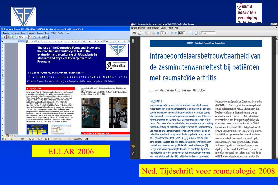 EULAR 2006 Ned. Tijdschrift voor reumatologie 2008