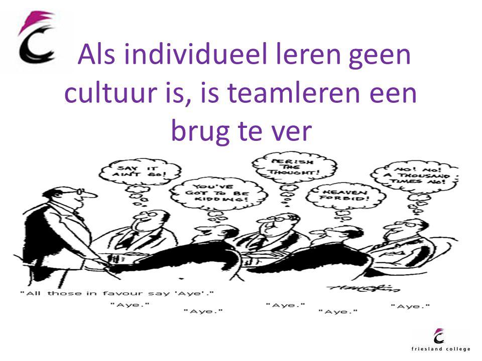 Als individueel leren geen cultuur is, is teamleren een brug te ver