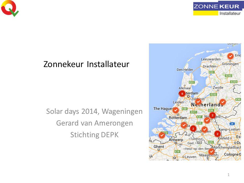 Zonnekeur Installateur Solar days 2014, Wageningen Gerard van Amerongen Stichting DEPK 1