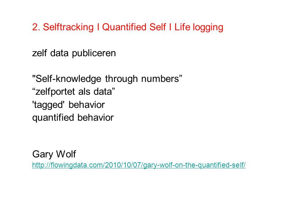 2. Selftracking I Quantified Self I Life logging zelf data publiceren