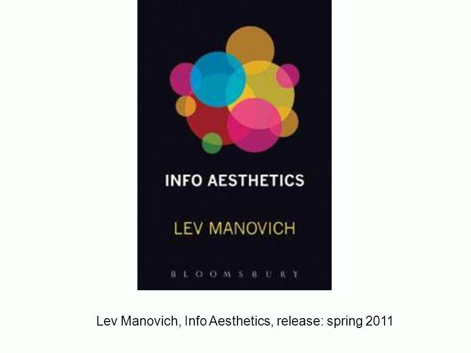 Vb: datavizualisation + vormgeving : Lev Manovich http://manovich.net/ http://manovich.net/category/the-age-of-data-mining/ onderzoeksgroep Info Aesthetics / Dataviz http://www.manovich.net/IA/ http://lab.softwarestudies.com/p/research_14.html artikel: google scholar Data Visualization as new abstraction and anti-Sublime, 2002 http://books.google.nl/books?id=d- gykwpB7P4C&lpg=PA3&ots=S0uW9bSsN6&dq=data%20visualizati on%20%2B%20design%20%2B%20manovich&lr&pg=PA3#v=onep age&q&f=false
