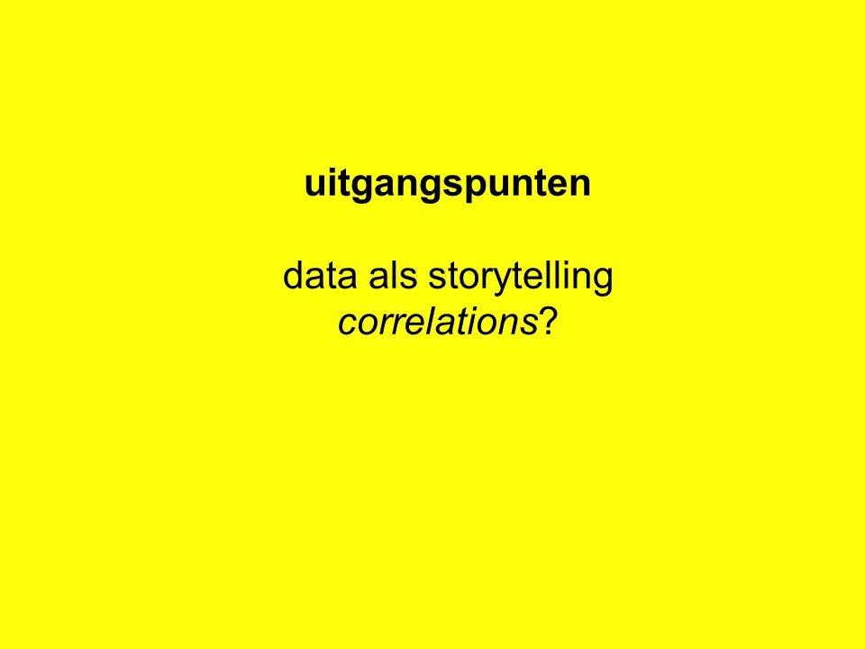 uitgangspunten data als storytelling correlations