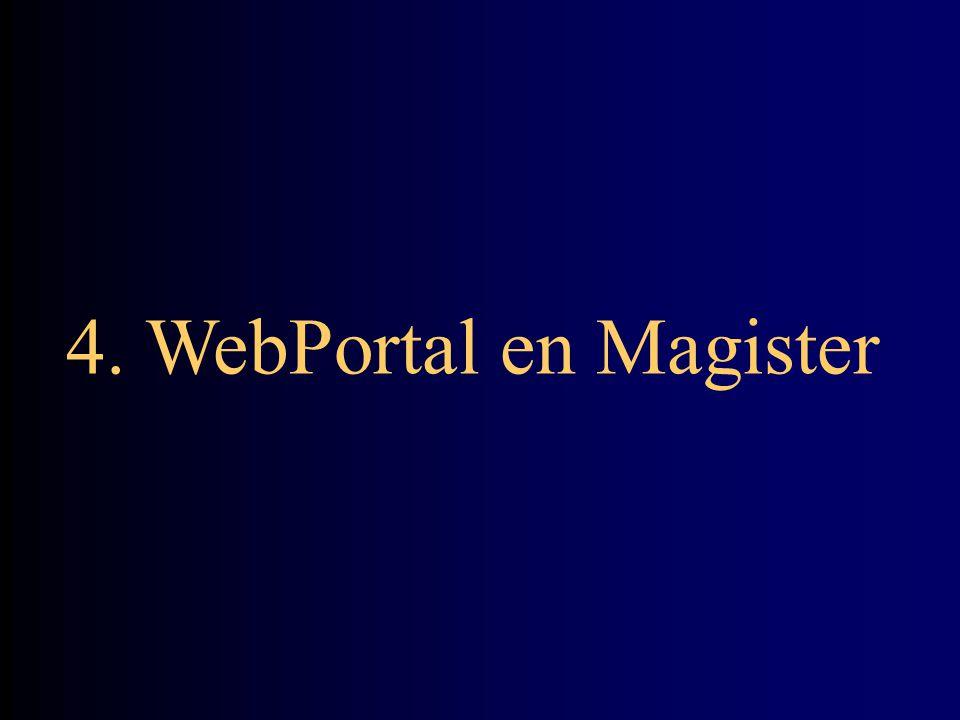 4. WebPortal en Magister
