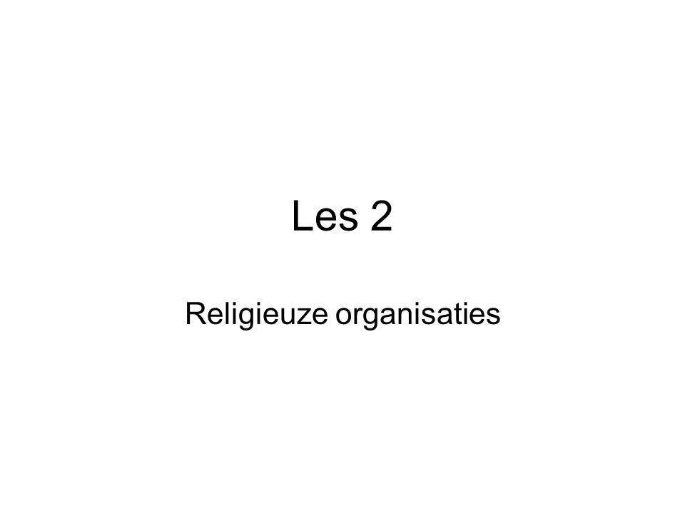 Les 2 Religieuze organisaties