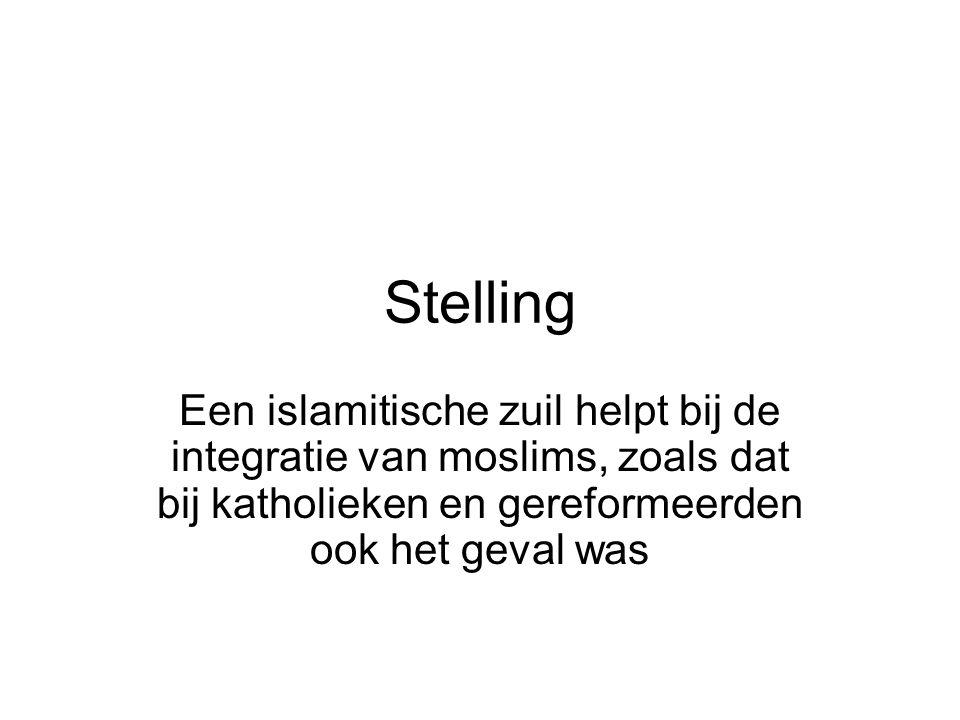 Stelling Een islamitische zuil helpt bij de integratie van moslims, zoals dat bij katholieken en gereformeerden ook het geval was