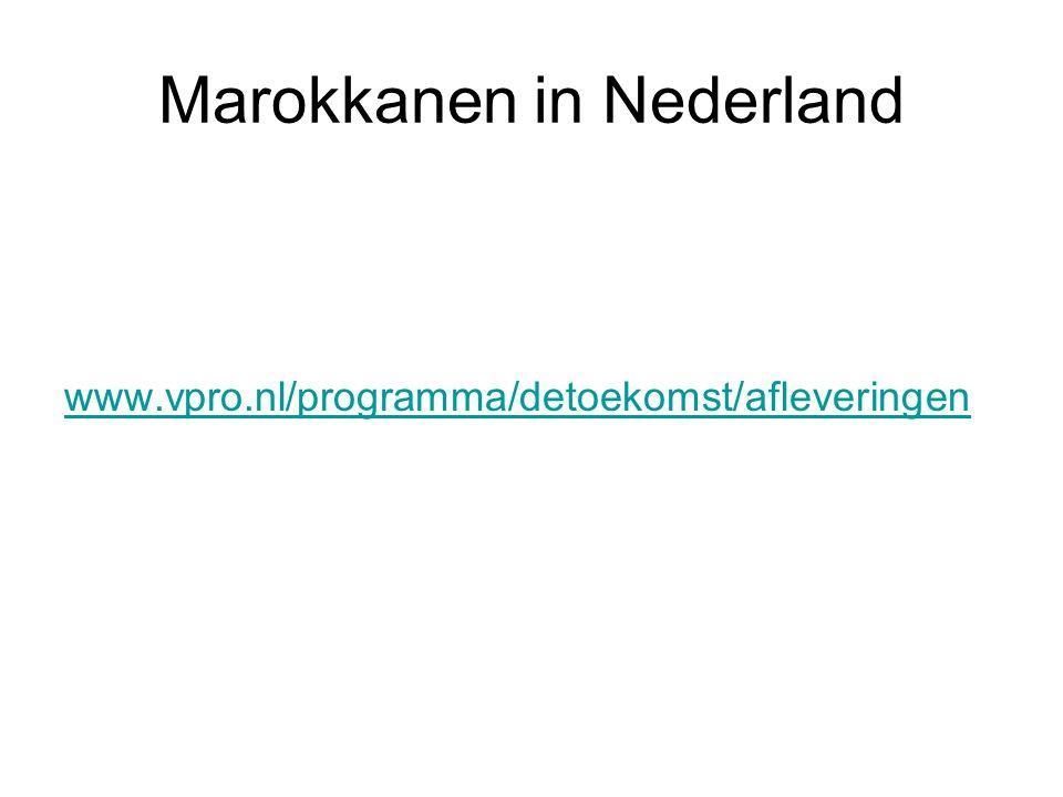 Marokkanen in Nederland www.vpro.nl/programma/detoekomst/afleveringen
