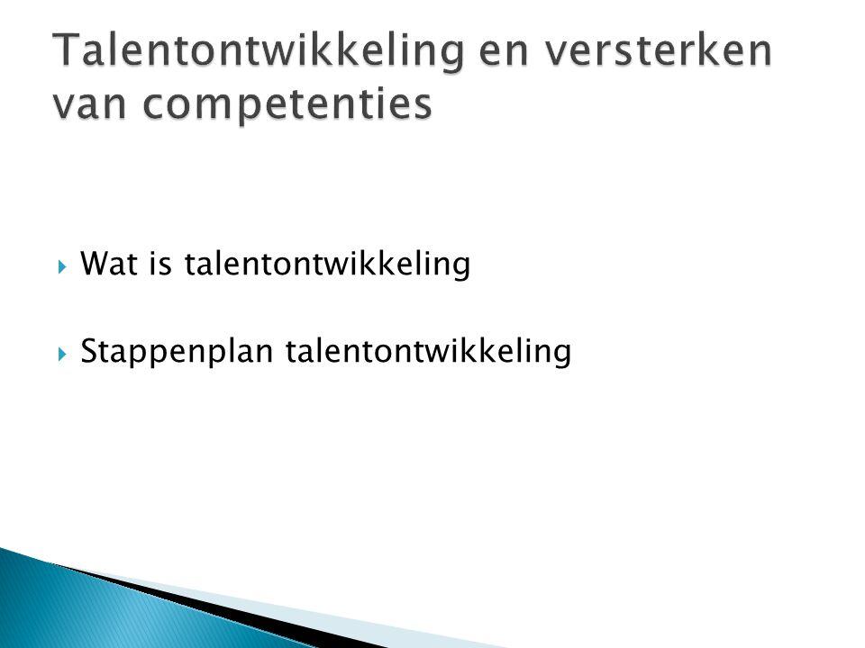  Wat is talentontwikkeling  Stappenplan talentontwikkeling