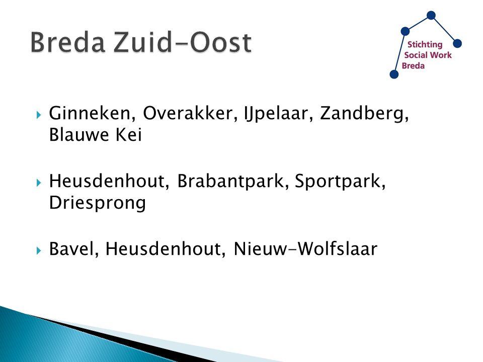  Ginneken, Overakker, IJpelaar, Zandberg, Blauwe Kei  Heusdenhout, Brabantpark, Sportpark, Driesprong  Bavel, Heusdenhout, Nieuw-Wolfslaar