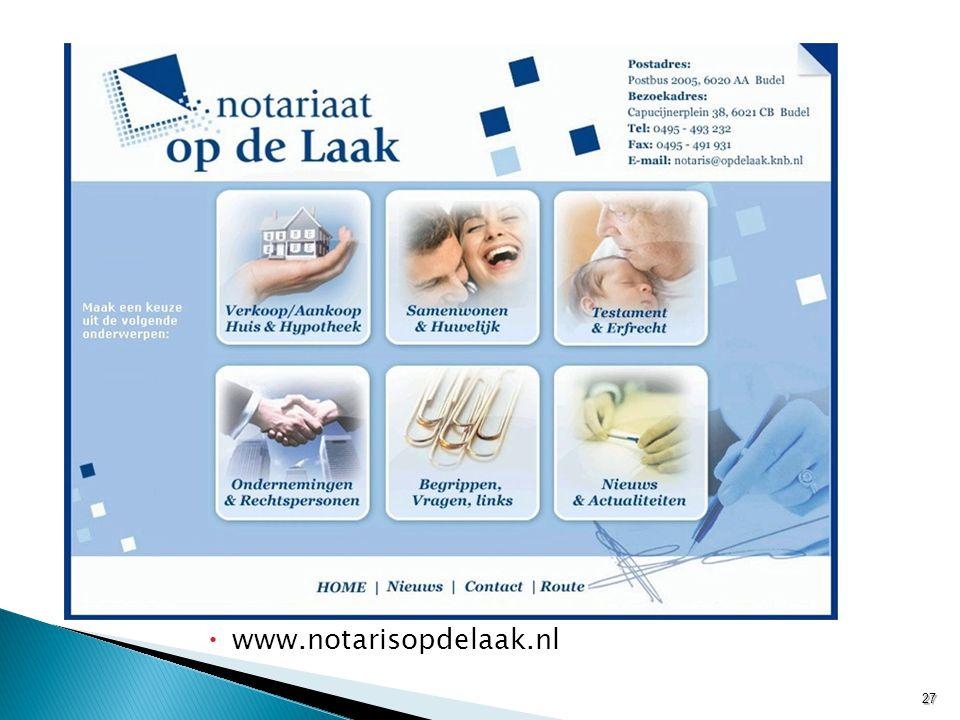  www.notarisopdelaak.nl 27