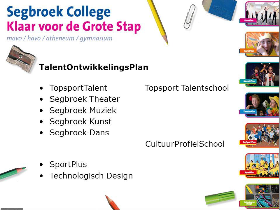 TalentOntwikkelingsPlan TopsportTalent Topsport Talentschool Segbroek Theater Segbroek Muziek Segbroek Kunst Segbroek Dans CultuurProfielSchool SportPlus Technologisch Design