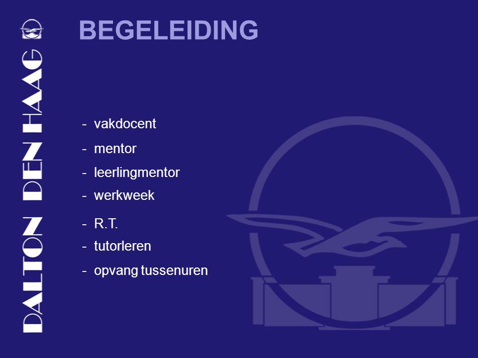 BEGELEIDING - vakdocent - mentor - leerlingmentor - R.T.