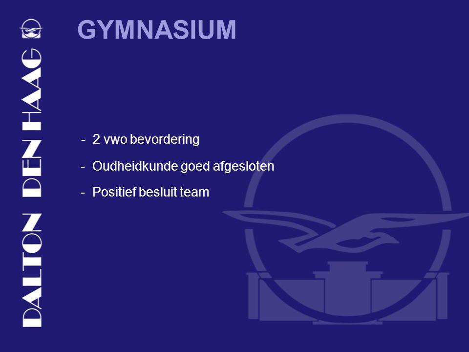 GYMNASIUM - Positief besluit team - 2 vwo bevordering - Oudheidkunde goed afgesloten