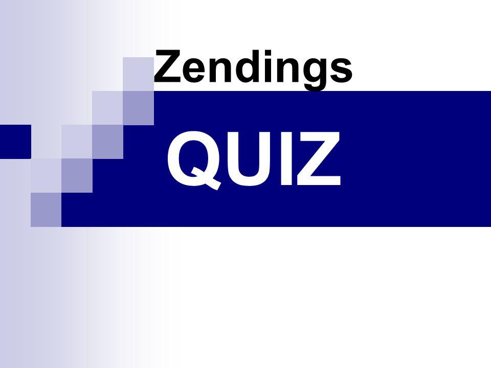 QUIZ Zendings